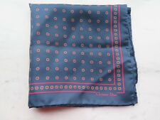 Christian Dior  Navy with Red Dots Silk Pocket Square