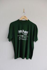 Vintage Harry Potter Chamber of Secrets promo movie film 2003 t-shirt L Green
