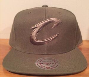 Cleveland Cavaliers Cavs Camo Green Mitchell & Ness Snapback Hat Cap NEW