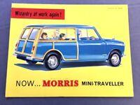 Morris Traveller Mini Original Car Sales Brochure Catalog 1960 1961 Countryman