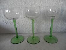 Drei alte sehr dekorative Weingläser Stengelgläser  je 16,8cm