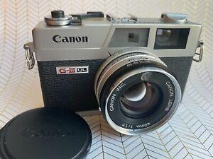 Canon Canonet QL17 GIII Near Mint CLA'd New Light Seals 1.5v Calibrated + Extras