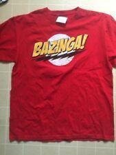BAZINGA ! Big Bang Theory Official Sheldon Cooper Short Sleeve T-Shirt LARGE