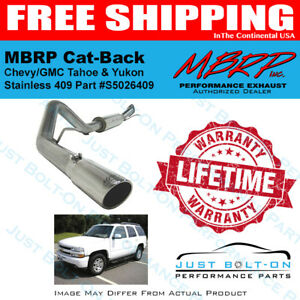 MBRP 3in Cat-Back 2000-2006 Chevy Tahoe 5.3L & GMC Yukon 5.3L T409 SS S5026409