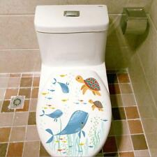 Whale Turtle Wall Sticker Toilet Seats Art Stickers Bathroom Home Decor ON SALE