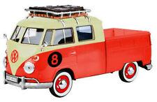 VW Bus T1 Transporter DoKa Pritsche orange / beige ca. 1:24 MotorMax 79582 OVP