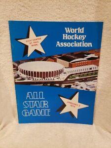 VERY RARE 1974 WHA All-Star GAme Program, Minnesota Fighting Saints, NICE!!