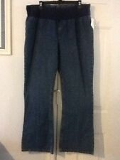 Ladies Size Large MOTHERHOOD MATERNITY Low Rise Flare Jeans NEW