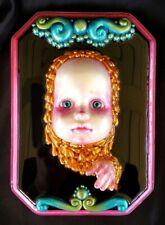 Black Mirror Horror Doll Wall Art - Creepy Doll, OOAK Doll, Gothic Art Horror