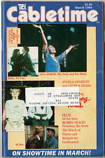"""Cabletime TV Guide, March,1984, """"Sweeney Todd"""", Very Rare, Free Shipping"""