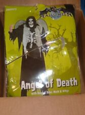 NEW ANGEL OF DEATH Smiffey's Halloween Costume M Robe Mask Wings NIP NWT
