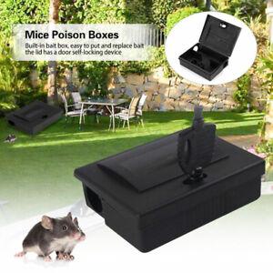 Maus Köderbox Köderstation Rattenfalle Mausefalle schwarz abschließbar Rattenbox