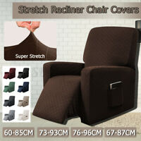 Recliner Sofa Slipcover Stretch Single Couch Chair Protector Cover With Pocket