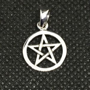 Small Pentacle -Peter Stone Jewellery -13mm Dia. Sterling Silver Pendant Only