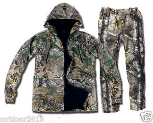 Winter Ghiliie Suit Real Tree Camouflage Jacket Pants Hunting Fishing Clothing