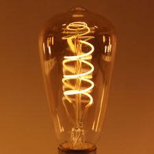 Uncleahtoh ST64 4W LED Strip Bulb E26 E27 Edison Vintage Spiral Filament