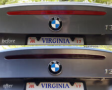 BMW 1 Series Center Third Brake Light Smoked Tinted Overlay Decal E82 1er Coupe