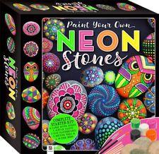 NEW Hinkler Books Paint Your Own Neon Stones Creative Art Set Gift Starter Kit!