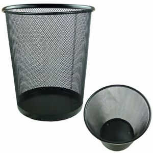 METAL MESH WASTE PAPER BIN FOR OFFICE HOME USE BEDROOM - LIGHTWEIGHT AND STURDY