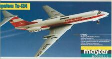 "Tupolew Tu-134 ""Interflug"" 1:100 Master Modell / Plasticart 1009, Original! DDR"
