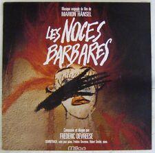 Les noces barbares 33 tours Frederic Devreese Marion Hansel 1987