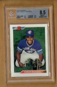1992  Bowman  Carlos Delgado  #127   BGS 8.5
