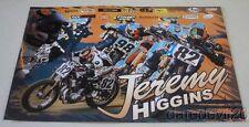2016 Jeremy Higgins signed RLJ Racing KTM 450 SX-F AMA Flat Track poster