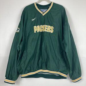 VINTAGE Reebok NFL Pro Line Green Bay Packers Men's 2XL Pullover Sweatshirt