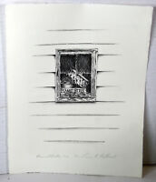 """13"""" Limited Edition Signed Print Laura Holbrook Rustic Window View Peanut Butter"""