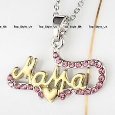 Pink Crystals Gold & Silver Jewellery Mum Gifts for Her Xmas Birthday Mothers S1