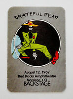 Grateful Dead Backstage Pass Red Rocks Colorado Shakedown St. 8/12/87 8/12/1987
