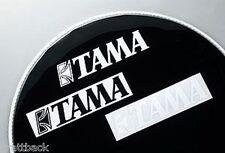 Autocollant TAMA  batterie BLACK - DRUM STICKER Grosse Caisse GENUINE OLD STOCK