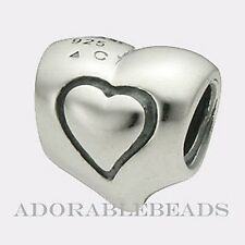 Authentic Chamilia Sterling Silver Heart in a Heart Bead GA-31