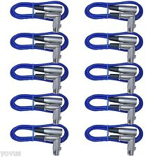 10pack Blue XLR MALE to  Right Angle female 6ft mic microphone audio cables cord