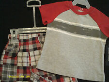 Faded Glory 2-Piece Multi-Color Everyday Short Set Infant Boys NWT size 3-6 Mo.