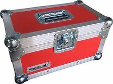 "7"" Single 200 Swan Flight Case Vinyl Record Box (Red Rigid PVC)"