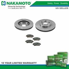 Nakamoto Front Premium Posi Ceramic Disc Brake Pad and Rotor Pair Kit for Toyota