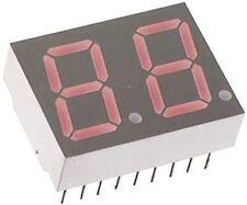 Broadcom HDSP-523E 2 Digit 7-Segment LED Display, CC Red 7.69 mcd RH DP 14.2mm