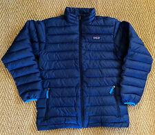 PATAGONIA KIds Unisex Down Sweater Jacket, Zip Front, Blue, Sz XL (14)