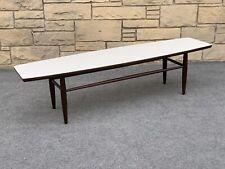 "Mid Century Danish Modern Ethan Allen Baumritter Surfboard Coffee Table - 56"""