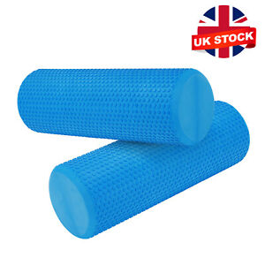 45cm Yoga Pilates Massage Column Fitness Gym Exercise Sports Foam Roller Blue UK