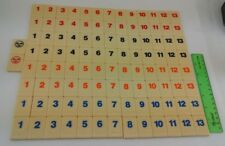Rummikub 106 Tile Set Black Blue Orange Red Jokers 1997 Pressman Toy Corp