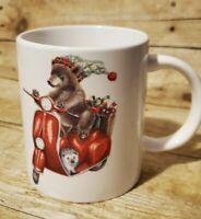 Adorable Mambo Group Christmas Bear Hedgehog Scooter Collection Coffee Mug