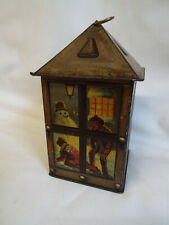 More details for maison lyons toffee tin in the shape of a lantern