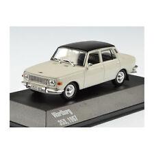 Whitebox 214142 Wartburg 353 Nero/Bianco Scala 1:43 modello di auto NUOVO! °