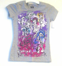 Monster High Girls Gray T-Shirts 2 Choices Sizes XS, S, Lg and XLg  NWT