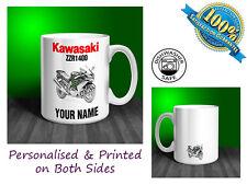 Kawasaki ZZR1400 Motorbike Personalised Ceramic Mug Gift (MB029)