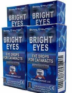 Bright Eyes Ethos Cataract Eye Drops 4 Boxes 40ml  FREE POSTAGE WORLDWIDE