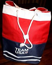 Team USA 2016 Olympic Games canvas backpack / shoulder sack NWT Airport Carry-On