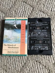 1994 Harper Audio Miracle Of Mindfulness 2 Cassette Tape Set Thich Nhat Hanh